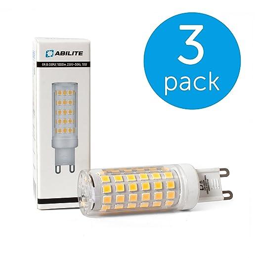 Pack de 3 abilite lámpara LED G9/10 W (equivale: 72 W)