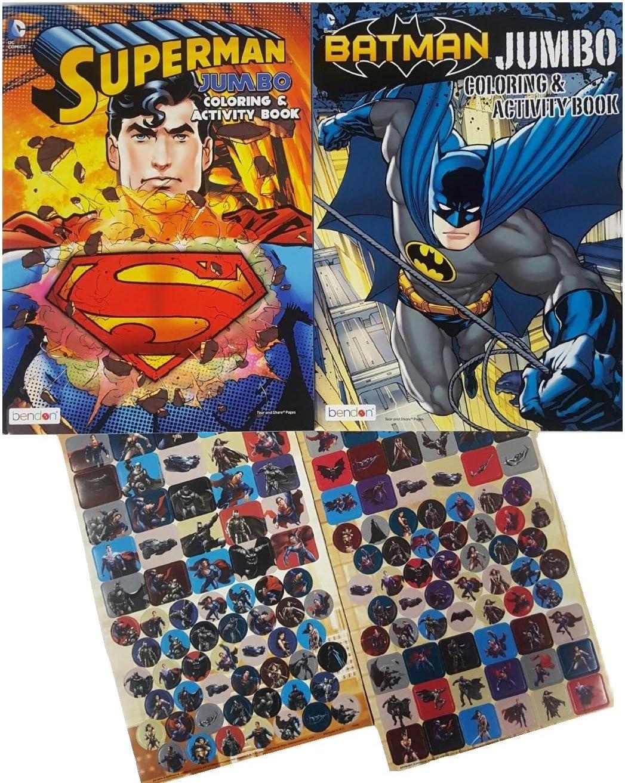 - Amazon.com: Batman Vs Superman Coloring And Activity Books Set - 2