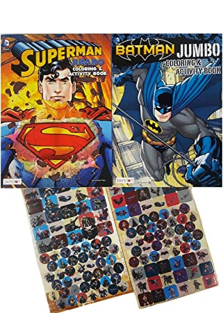 Batman Vs Superman Coloring And Activity Books Set