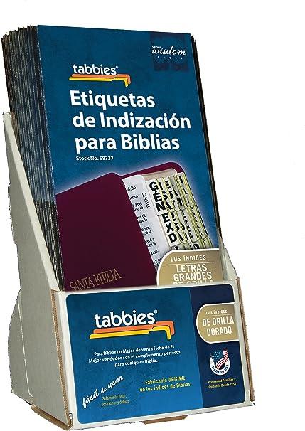 Tabbies 58337 - Lote de 20 pestañas de indización de la Biblia con bordes dorados y testamento antiguo y nuevo + libros católicos, 96 pestañas (48337): Amazon.es: Oficina y papelería