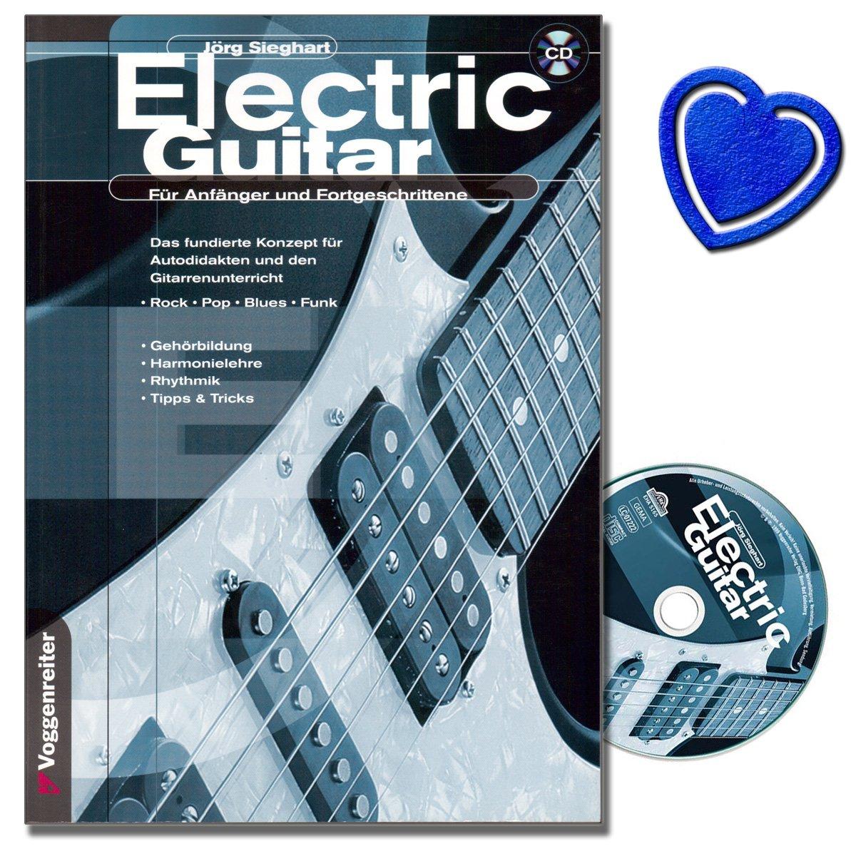 Electric Guitar (+ CD) - La Guitarra Escuela para principiantes y tanto para Incluso Estudiar como para clases con ejemplos de roca, Pop, Blues y radio ...
