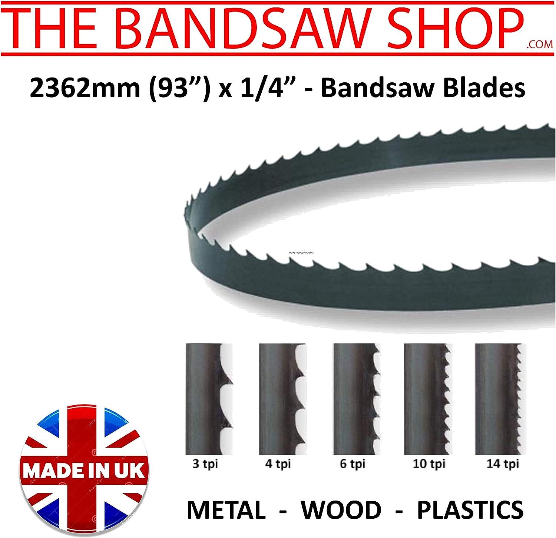 6 TPI 93 2362 mm 6mm 93 6mm x 1//4 Wide Wood Cutting Bandsaw Blades 2362 mm x 1//4