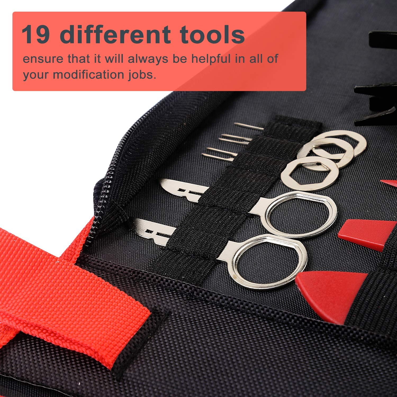 TOOLBABA 19 pcs Trim Removal Tool Set , Car Panel Removal Tool, Auto Trim Removal Tool Kit with Storage Bag by TOOLBABA (Image #6)