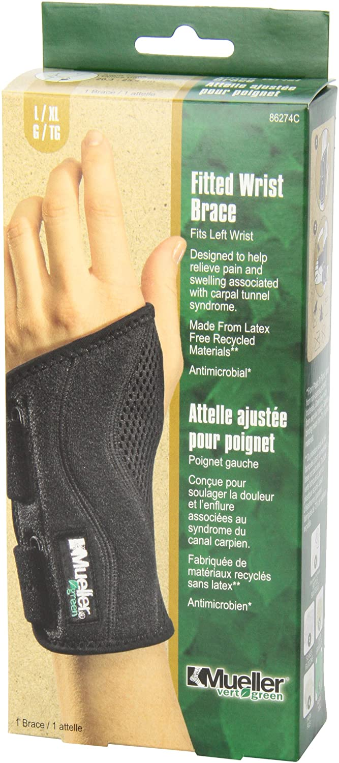 Motorcycle gloves carpal tunnel syndrome - Amazon Com Mueller Fitted Wrist Left Black Large Xlarge Health Personal Care