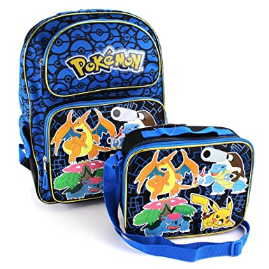 Amazon.com | Pokemon 16 inch Backpack and Lunch Box Set (Pokemon ...
