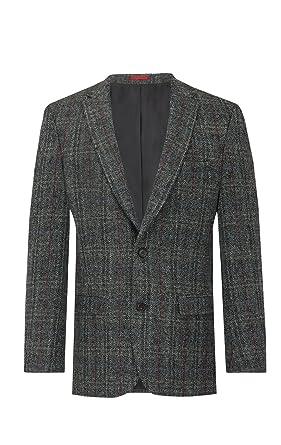 Tweed Carreaux Harris Veste Grise À Rouges Homme 4q7Cv