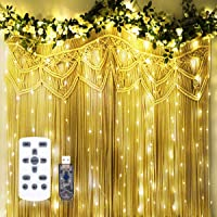 Twinkle String Lights with Remote Control Timer 300 Led USB Powered for Window Curtain Christmas Wedding Party Home Garden Patio Decoration Fairy Lights 118in x 118in