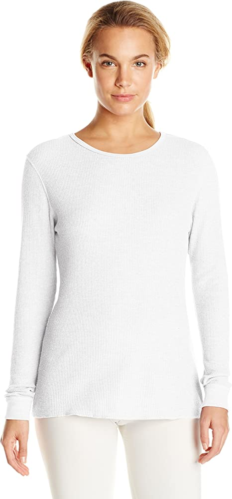 BRAND NEW  LADY/'S FRUIT OF THE LOOM BLACK SOOT COLORED THERMAL TOP