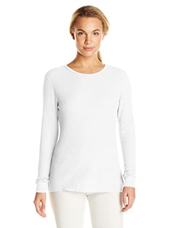 82052b0de245 Fruit of the Loom Women's Waffle Thermal Underwear Top, Arctic White, X -Small