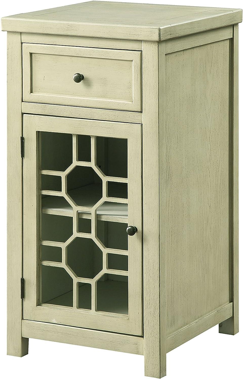 Furniture of America Lillian Side Table, White