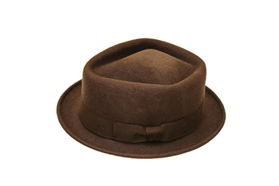 4a968f83a4611b Image Unavailable. Image not available for. Colour: Euro Accessories Men's  Brown Fashion Wool Trilby Fedora Hat