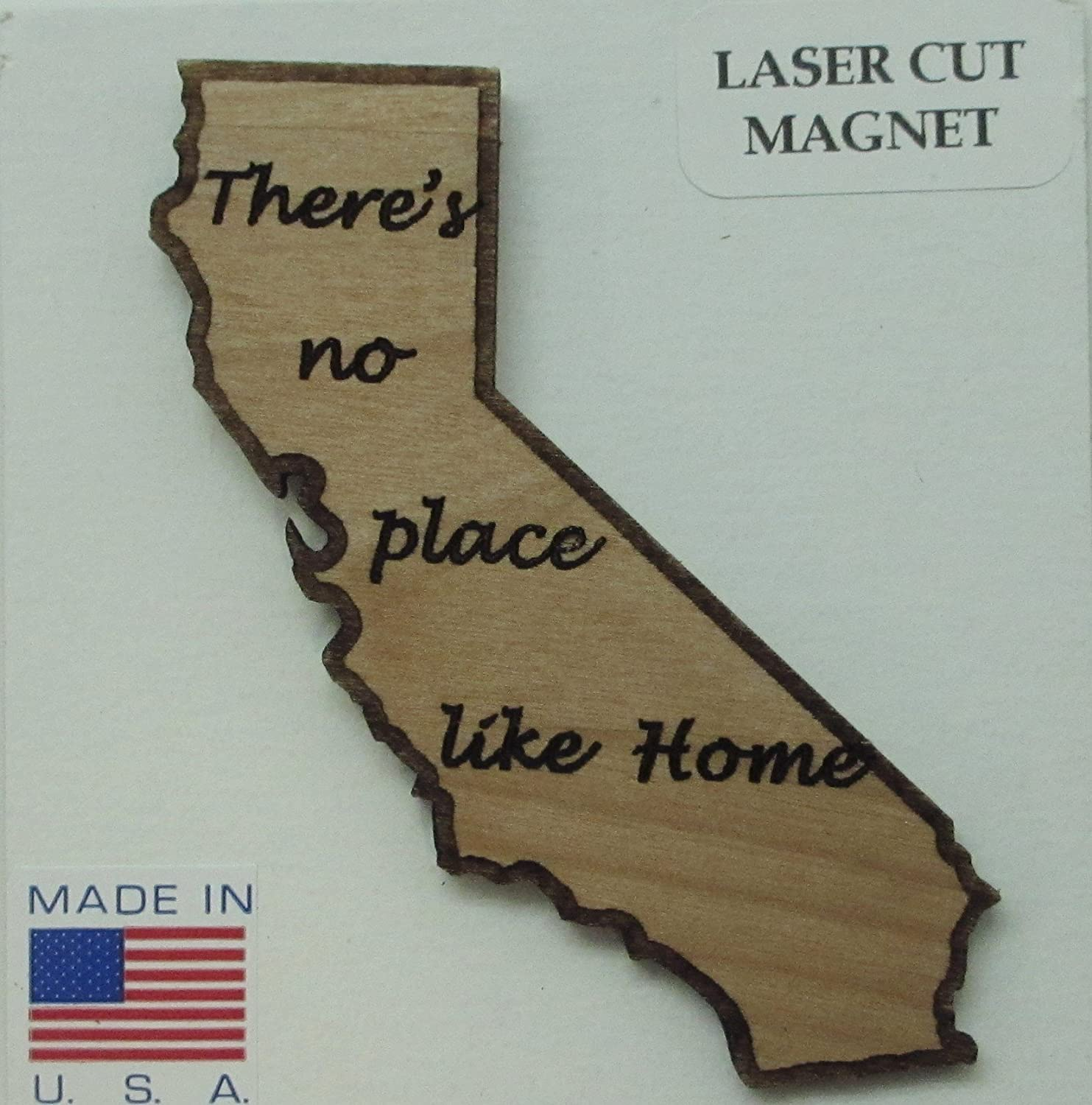 There's No Place Like Home California Lot of 3 Mini Wood Magnets