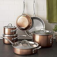Calphalon T10 Tri-Ply Copper 10-Piece Cookware Set (Brushed Copper)