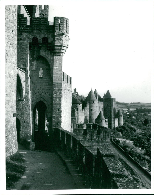 Fotomax Carcassonne - Foto de Francia, diseño Vintage: Amazon.es: Hogar