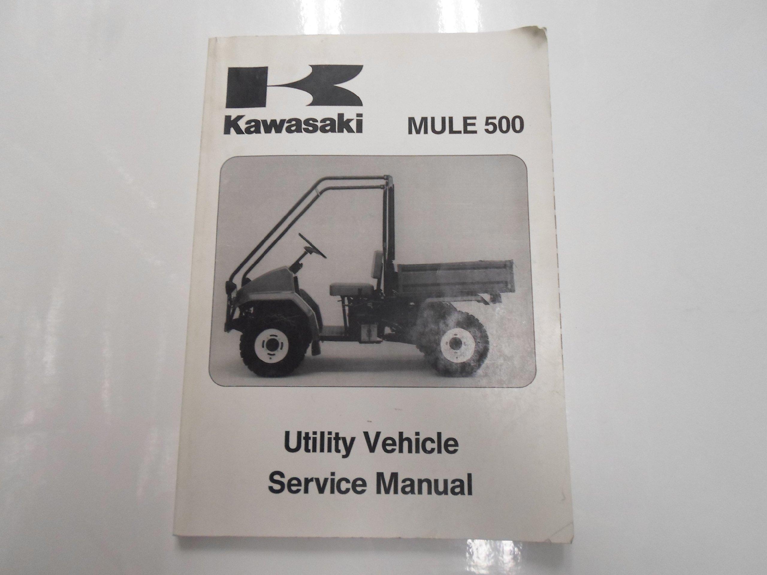 1991 1996 Kawasaki Mule 500 Utility Vehicle Service Repair Shop Manual:  KAWASAKI: Amazon.com: Books
