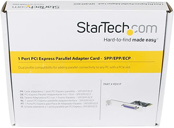 StarTech PEX1P Low-Profile PCI-E Parallel Adapter Card *USED*