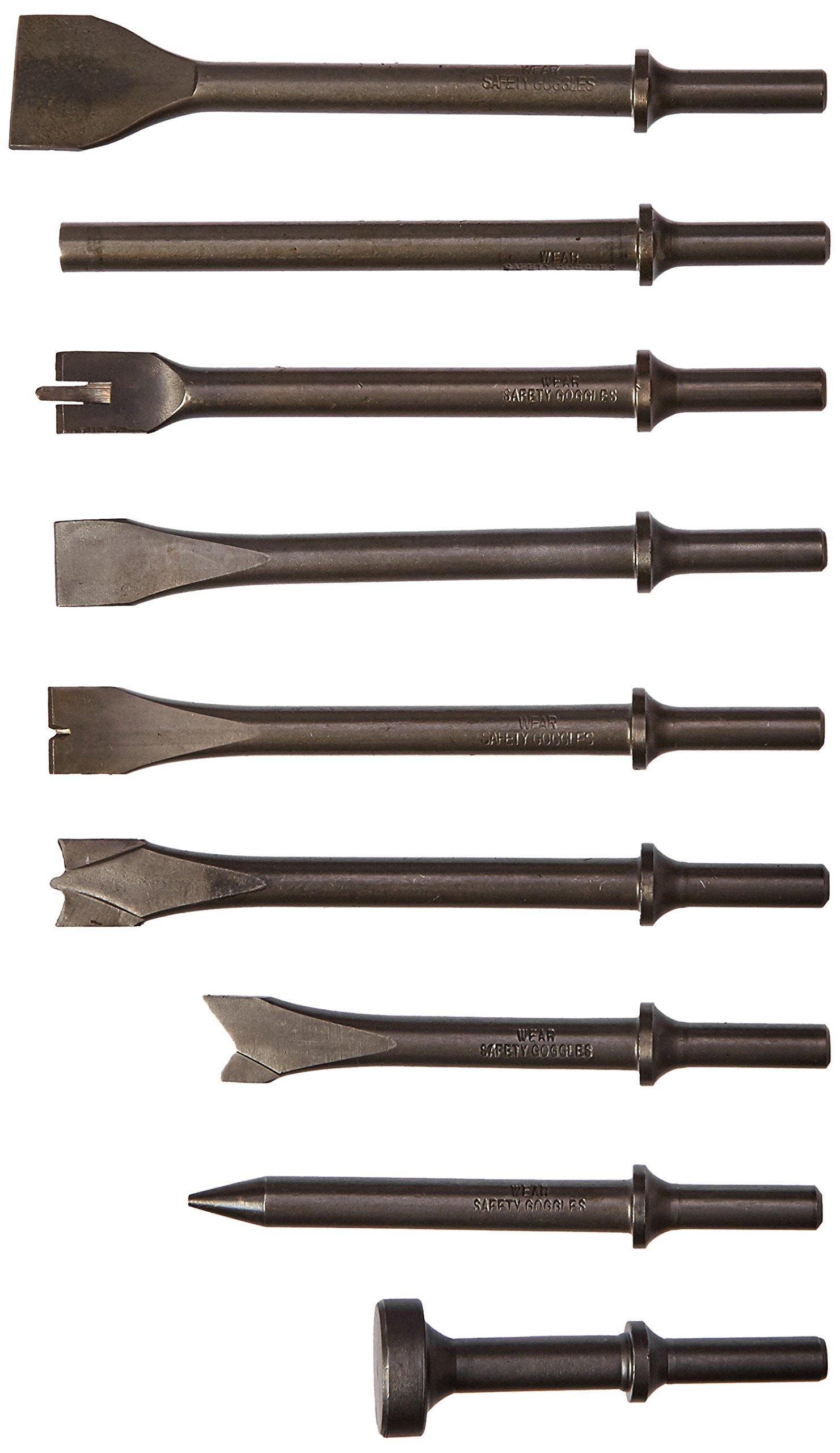Advanced Tool Design Model ATD-5730 9 Piece All Purpose Chisel Set