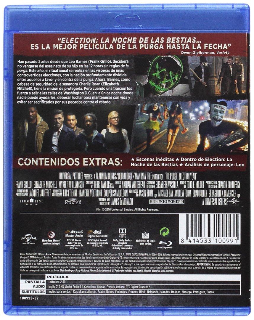 Amazon Com Elección La Noche De Las Bestias The Purge Election Year Non Usa Format Pal Import Spain Cine Y Tv