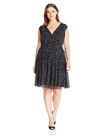 London Times Womens Plus Size Cap Sleeve Fit And Flare Dress W