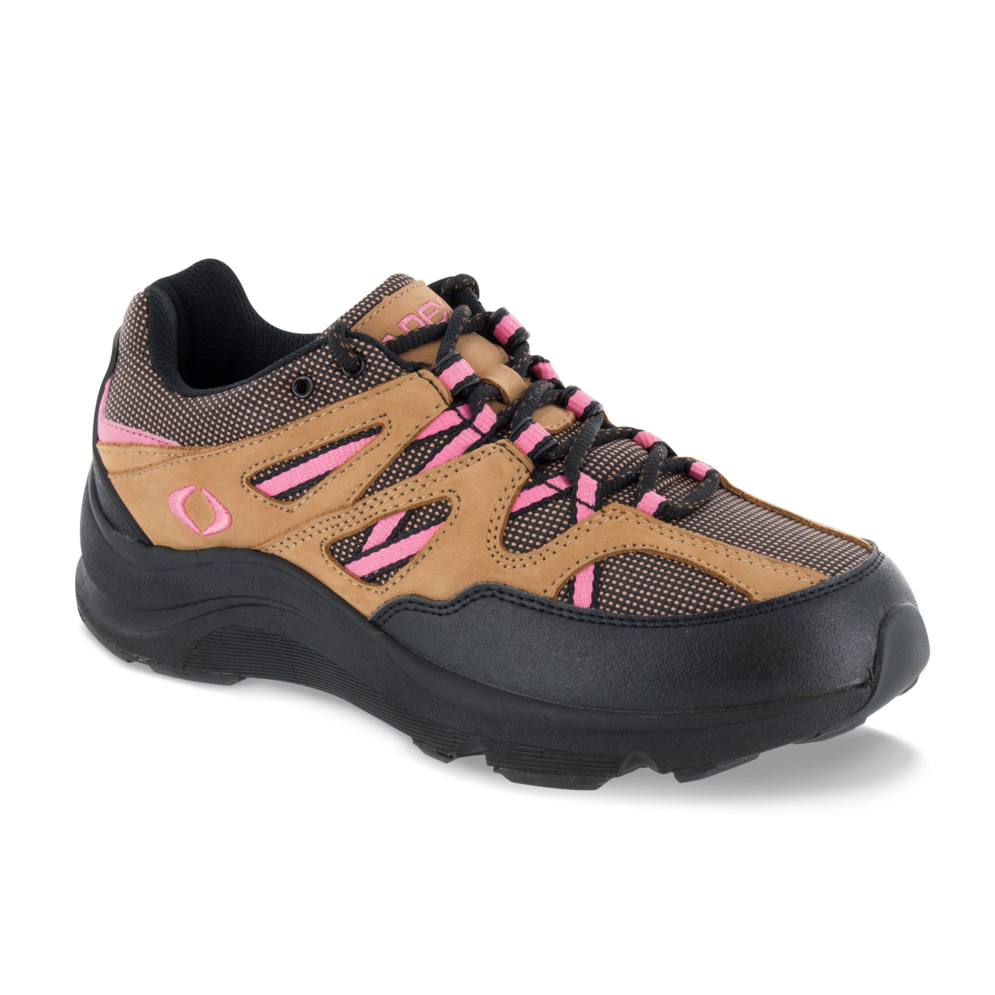 Apex Women's Sierra Trail Runner Hiking Shoe Sneaker, Brown/Pink, 8.5 Wide US by Apex