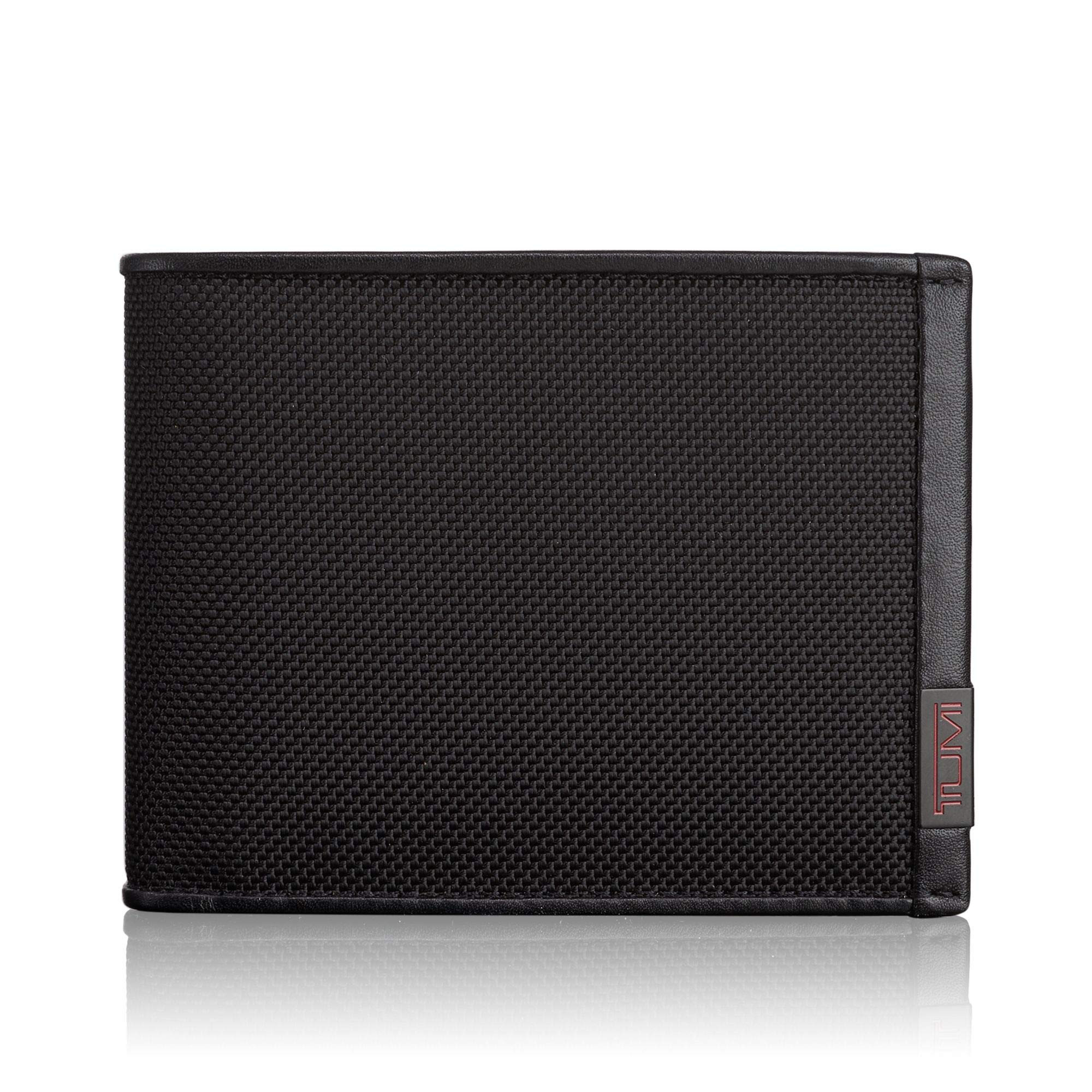 TUMI - Alpha Global Double Billfold Wallet with RFID ID Lock for Men - Black by TUMI
