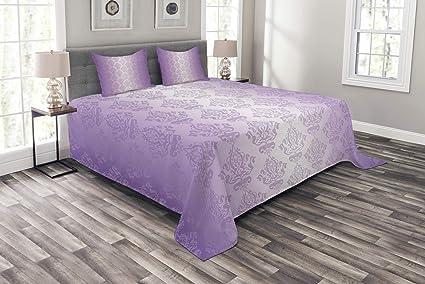 Purple Bedspreads Queen Size.Amazon Com Lunarable Purple Bedspread Set Queen Size Ombre