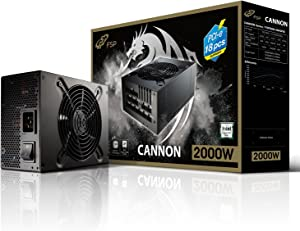 FSP Cannon 2000W ATX 12V & EPS 12V Fully Modular Power Supply with 18 Sets of PCI-E 6+2 Pins at Efficiency ≧ 92% Blockchain Mining PSU (Cannon 2000)