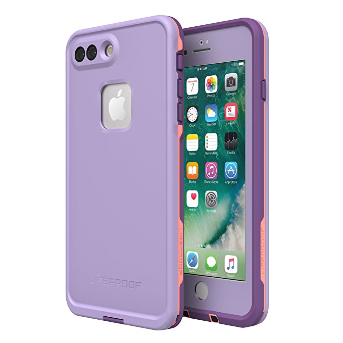 check out a8aa3 a96bc Lifeproof FRĒ SERIES Waterproof Case for iPhone 8 Plus & 7 Plus (ONLY) -  Retail Packaging - CHAKRA (ROSE/FUSION CORAL/ROYAL LILAC)