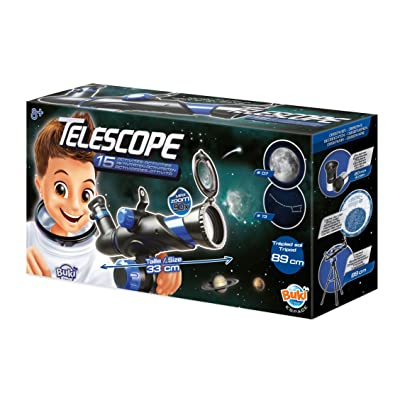 Buki Kids Beginner Telescope with Floor Tripod 90X Zoom Lens for Kids Age 8 and Over: Toys & Games