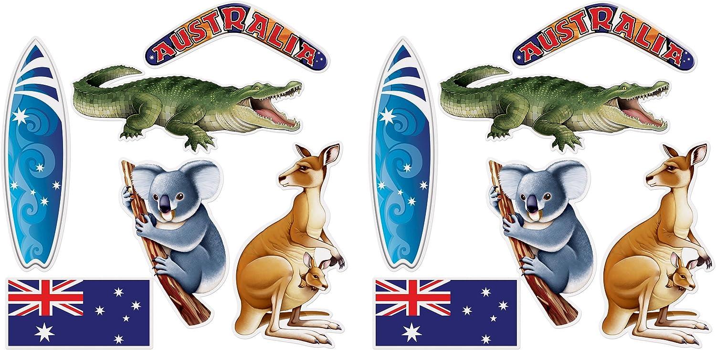 12.25-19.75 Beistle 54891 Australian Cutouts 12 Piece Multicolored