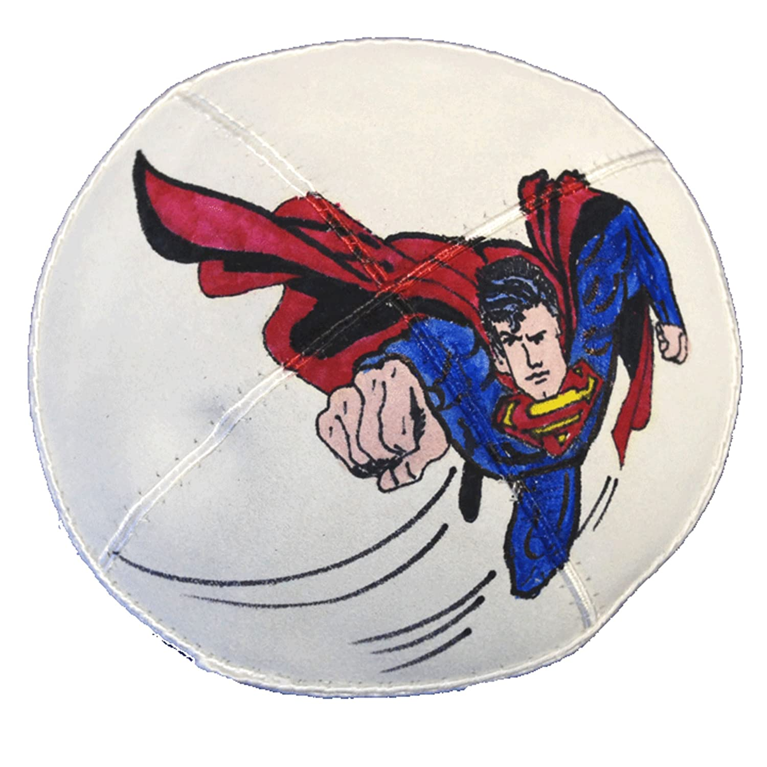 Hand-painted Kippah (Yarmulke) with Superman 1