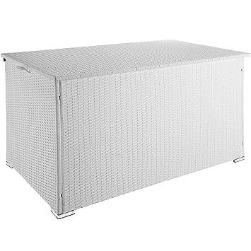 bas prix 75bc9 a816a TecTake 800715 Coffre de Jardin de Rangement extérieur 950 L en Résine  tressée, Cadre en Aluminium, 145 x 82,5 x 79,5 cm - Plusieurs Coloris -  (Blanc ...