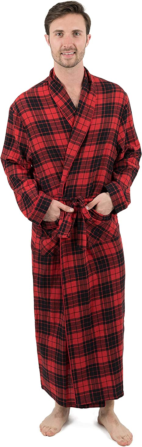 Leveret Mens Flannel Robe Christmas Robe Size Small-XXX-Large