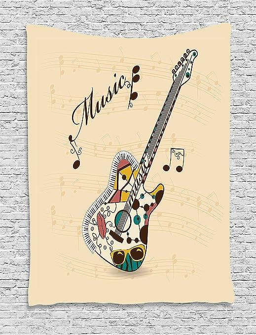 Tapiz para guitarra, abstracto y divertido, instrumento de melodía ...