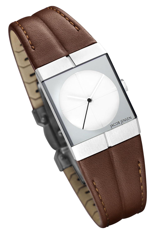 Mit Jensen Uhr Armband 243 Jacob Damen Quarz Analog Leder bfY7yI6gv
