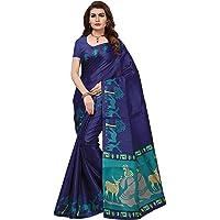 ANNI DESIGNERCotton Saree with Blouse Piece (AD-Hiren Blue_Blue_Free Size)
