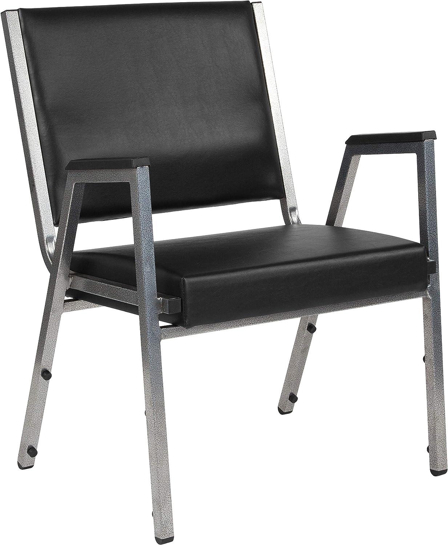 Flash Furniture HERCULES Series 1500 lb. Rated Black Antimicrobial Vinyl Bariatric Medical Reception Arm Chair