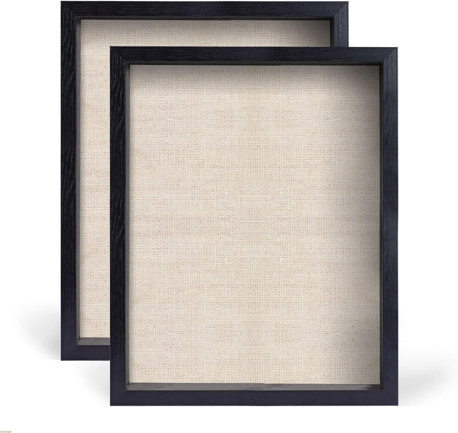 Photos Linen Board Wood Showcase Display Shadow Box Frame Medals Keep Awards 2 Pack Tickets Pictures Frames