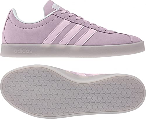 Adidas VL Court 2.0 W, Zapatillas de Deporte para Mujer, Blanco (Ftwbla/Ftwbla/Plamat 000), 40 2/3 EU