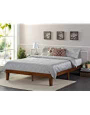 Zinus 12 Inch Wood Platform Bed/No Boxspring Needed/Wood Slat Support/Cherry Finish, Twin