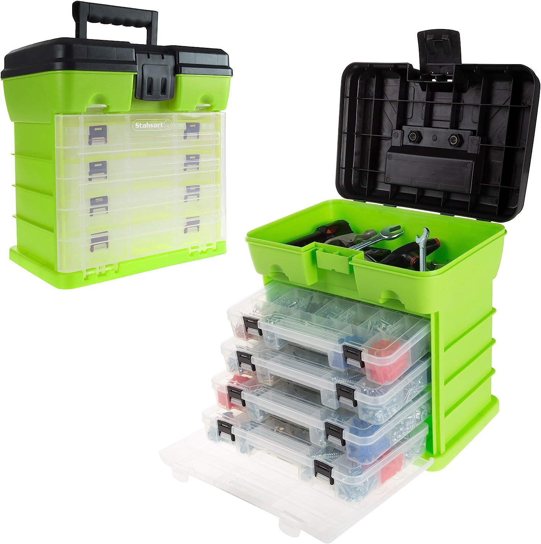 Toolbox Storage Garage Organizer Chest Compartment Portable Tool Box Sandstone