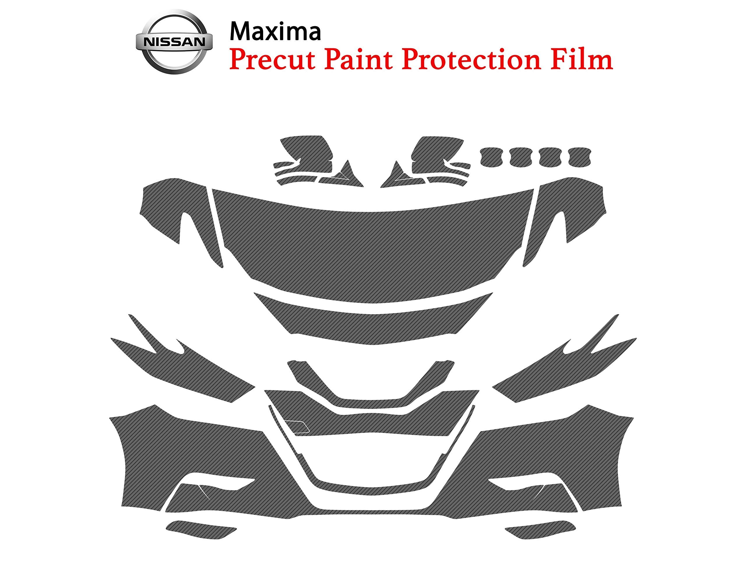 The Online Liquidator Precut Clear Bra Paint Protection Film Kit fits Nissan Maxima 2017-2019 - Full Front Vinyl Wrap Surface Safeguard Armor Cover