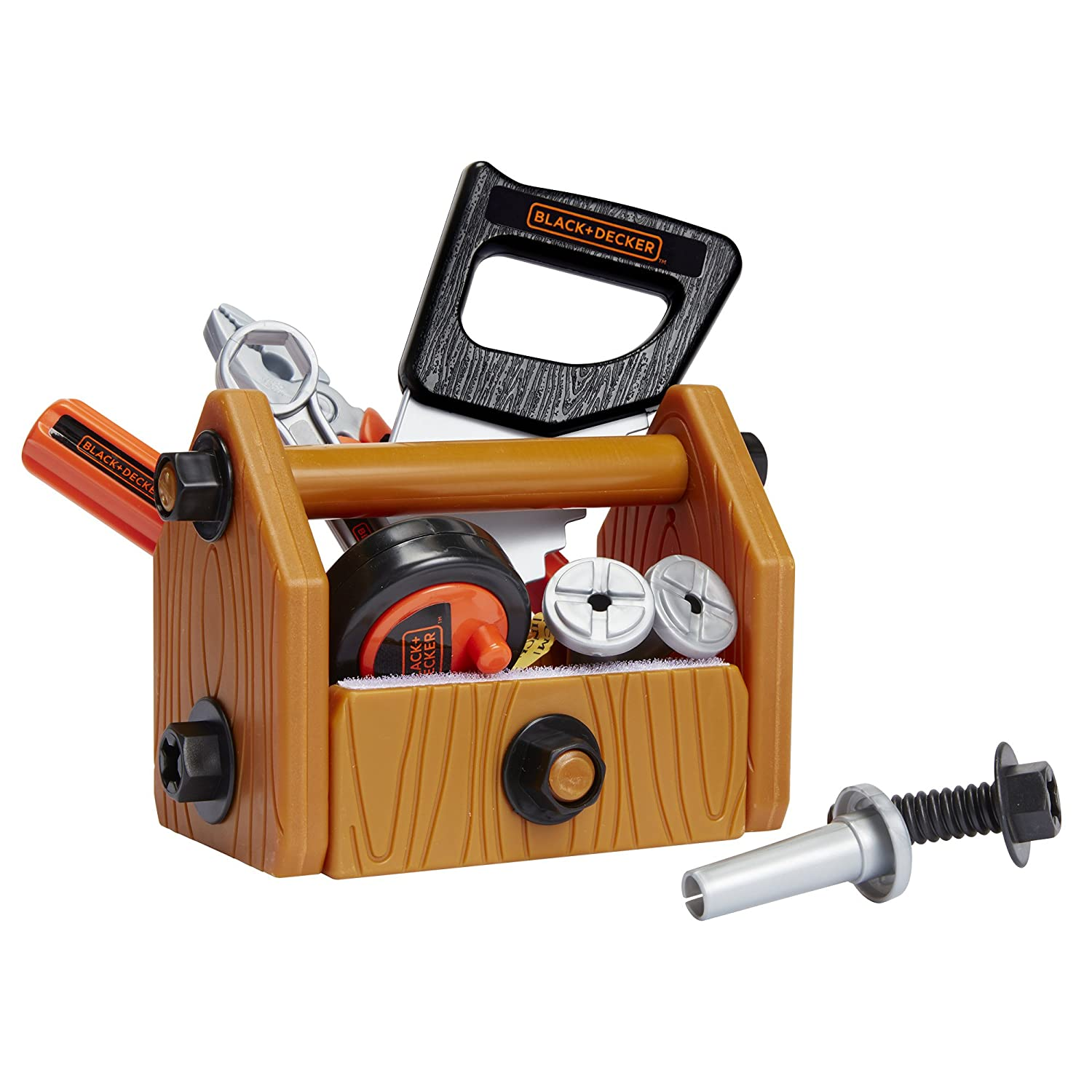 black and decker tools. amazon.com: black + decker junior deluxe tool set with toolbox - 42 tools \u0026 accessories: toys games and o