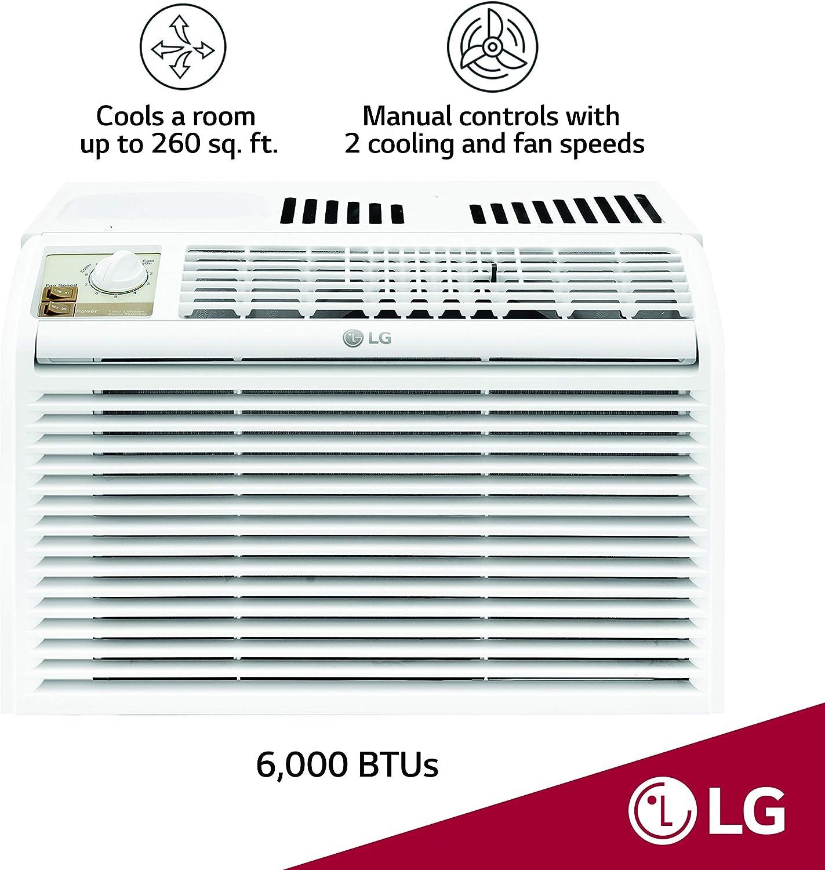 LG 5,000 BTU Control Manual Ventana Aire Acondicionado Color ...