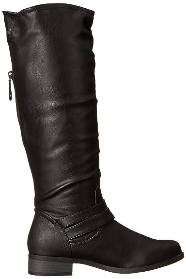 XOXO Martin Womens Shoe Round Toe Synthetic Gray Tall Knee High Riding Boot 6M