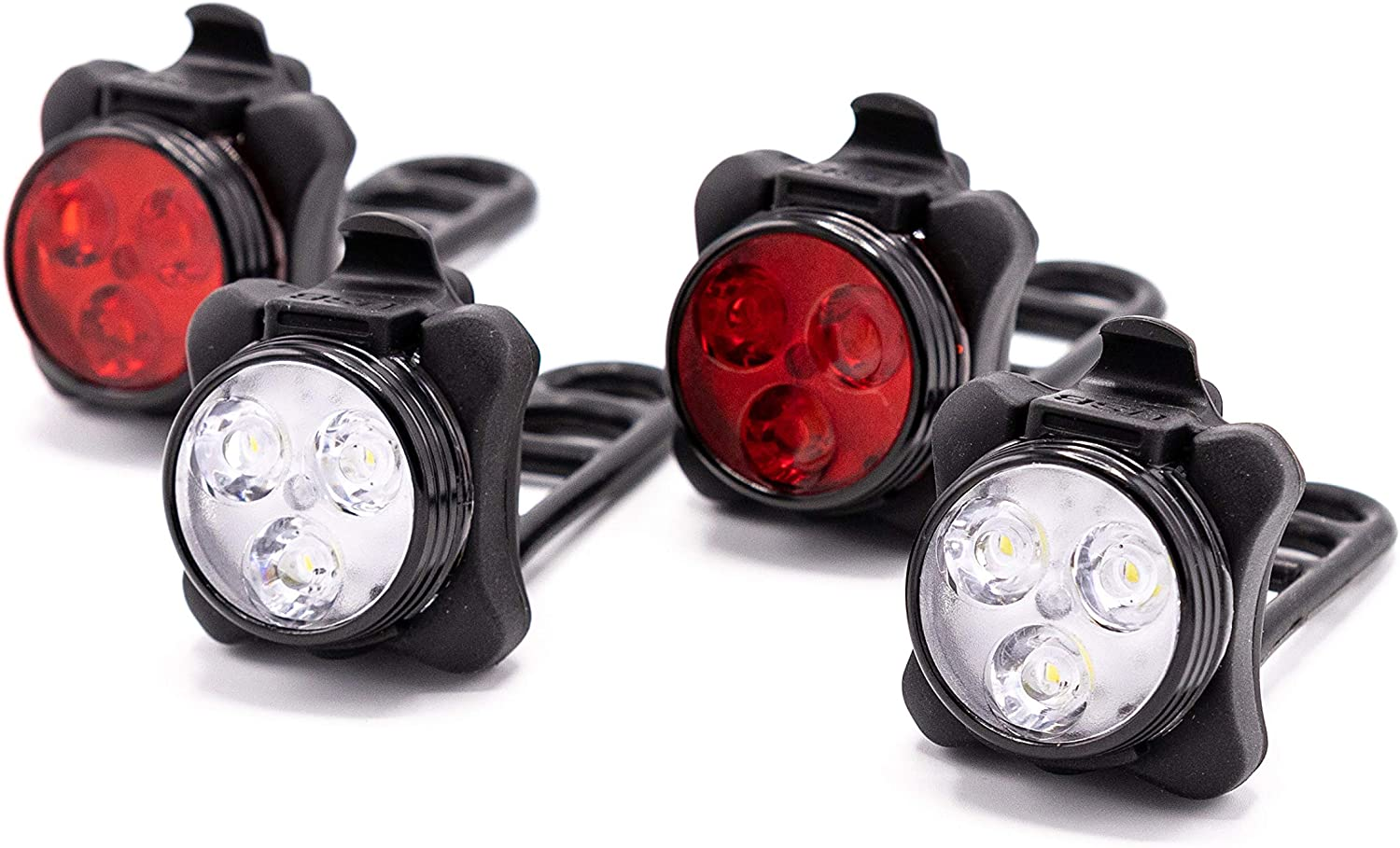 LED Bike Lights MeeQee USB Chargeable Set.