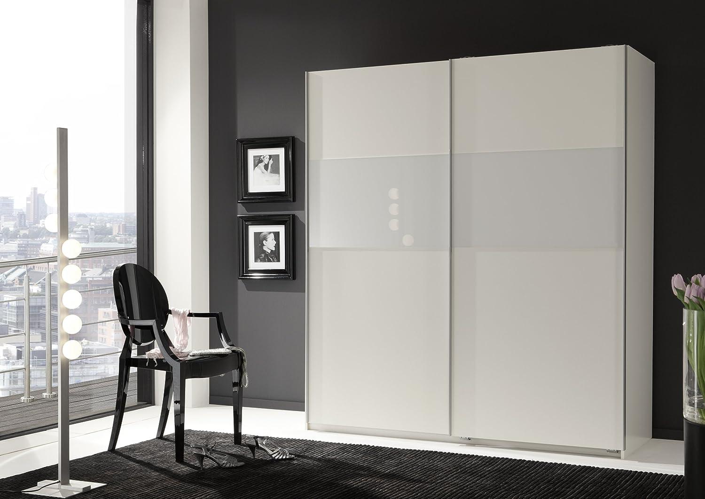 Schwebetürenschrank weiß schwarz  Wimex 127771 Schwebetürenschrank 198 x 180 x 64 cm, Front und ...