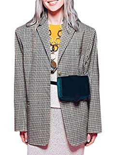 f338b68655417 Elva Nell Women s Casual Plaid Jacket Blazer Double Breasted Basic Office  Suit