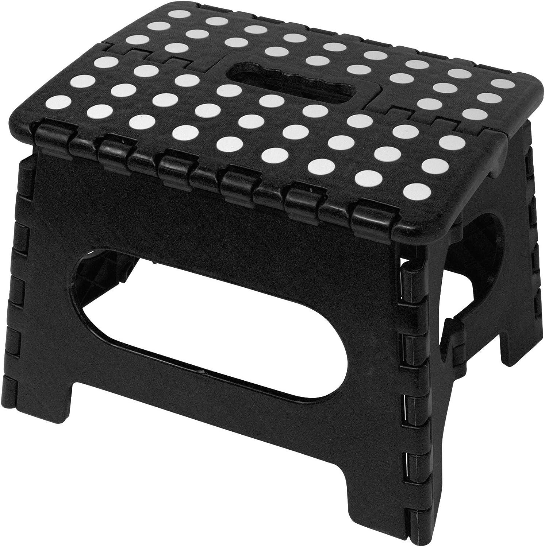Minel Folding Step Stool 2 Pack – Black