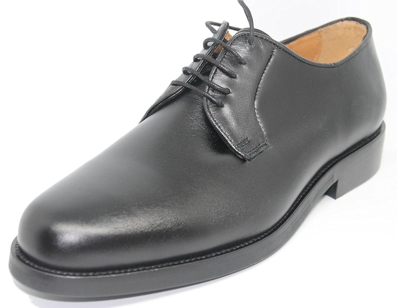 John Coleman Zapato de Cordones Pala Lisa EN Piel de Becerro Suave Para Hombre Farbe schwarz schwarz
